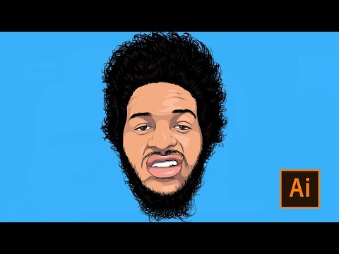How To Cartoon Yourself !- Step By Step Full Video Tutorial ( ADOBE ILLUSTRATOR )
