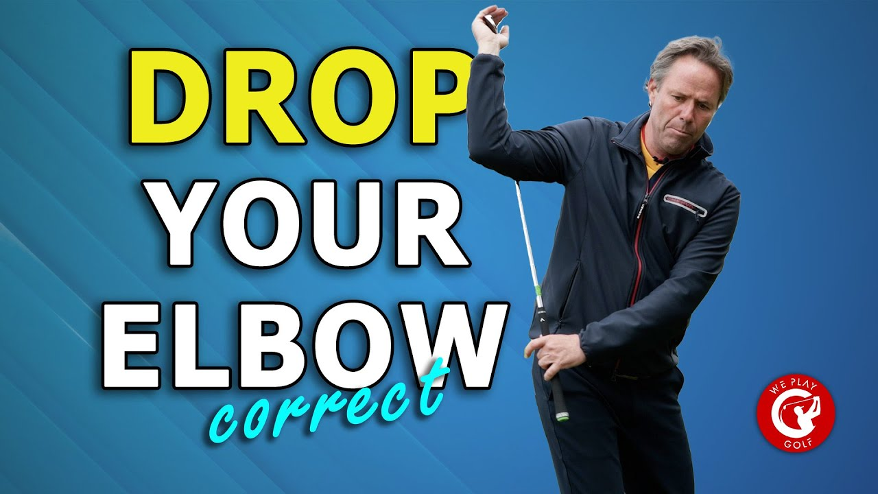 DROP your ELBOW correct in the DOWNSWING - Best drill for a better golf swing