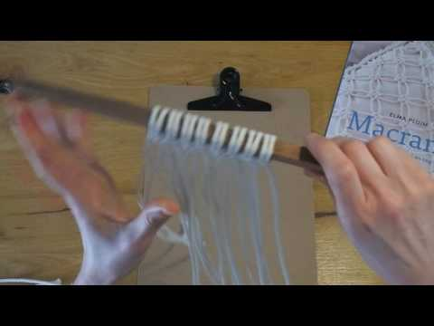 Macramé weitasknoop tutorial