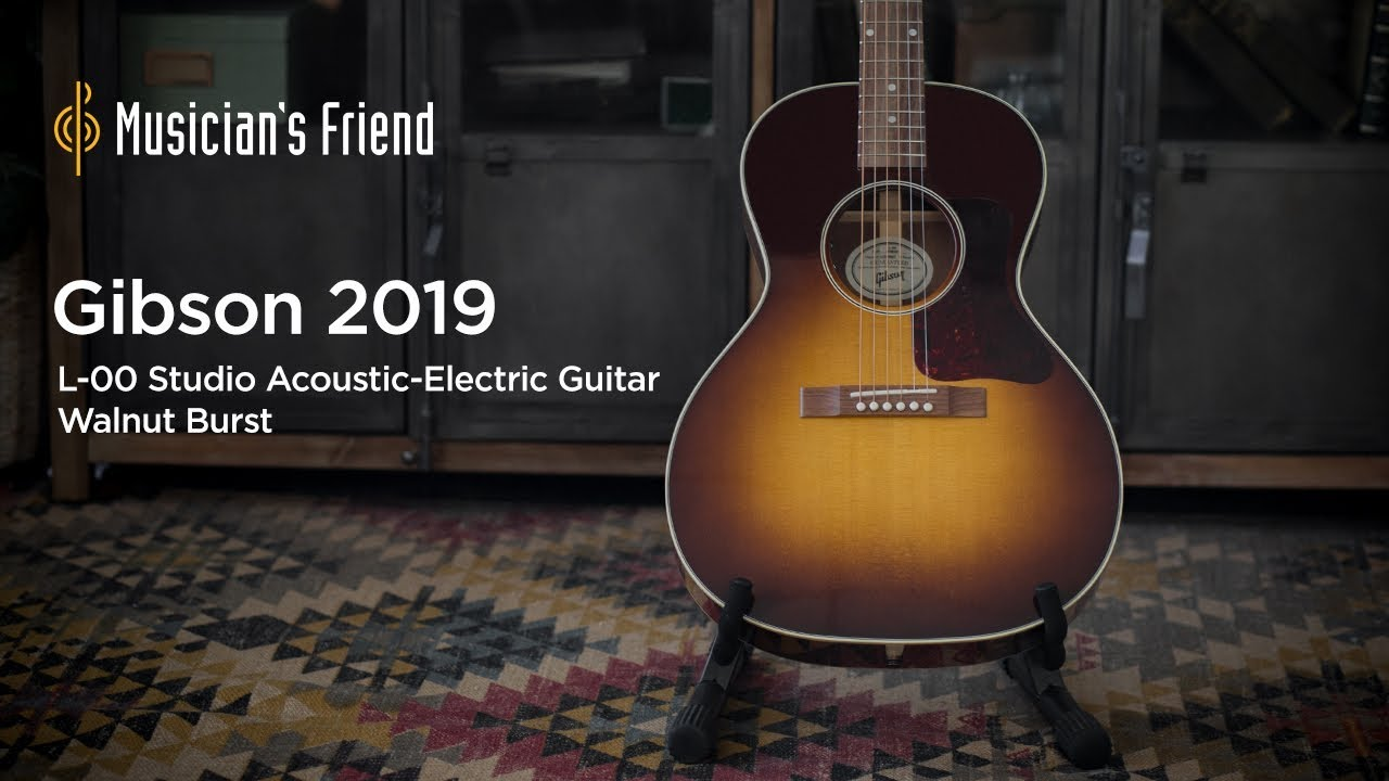 Gibson 2019 L-00 Studio Acoustic-Electric Guitar Walnut Burst Demo