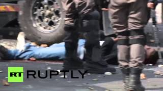 Ramallah Palestinian  City pictures : State of Palestine: Israeli forces beat Palestinians in Ramallah, 129 reported injured