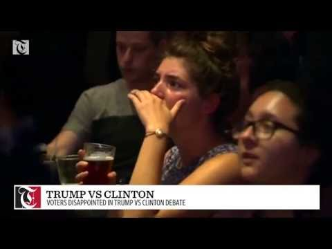 Voters disappointed in Trump vs Clinton debate