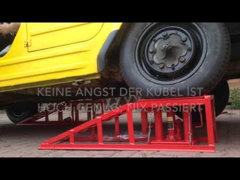 PKW Auffahrrampe höhenverstellbar Rampe Hebebühne Unfall (VW 181 Kübel)