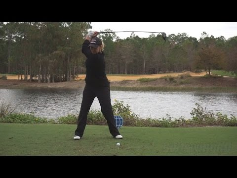 CRISTIE KERR – FACE ON DRIVER SWING REG & SLOW MOTION TIBURON GOLF COURSE 2014 CME 1080p HD