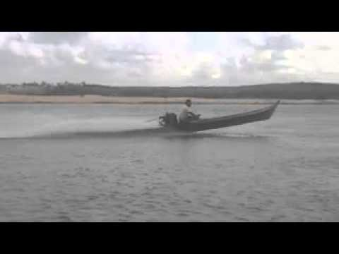 Vuando com barco motor santana em gararu