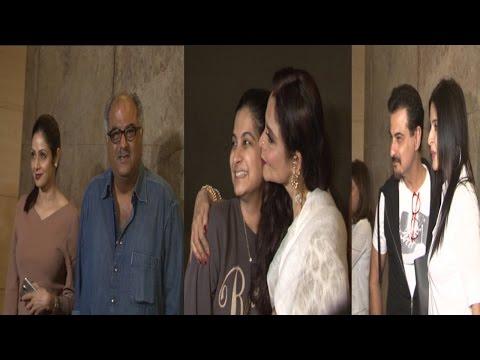 Rekha, Sridevi At Screening Of Movie Khoobsurat