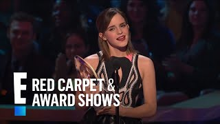 The People's Choice for Favorite Dramatic Movie Actress is Emma Watson
