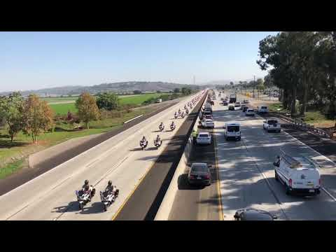 Sgt. Ron Helus honored with procession