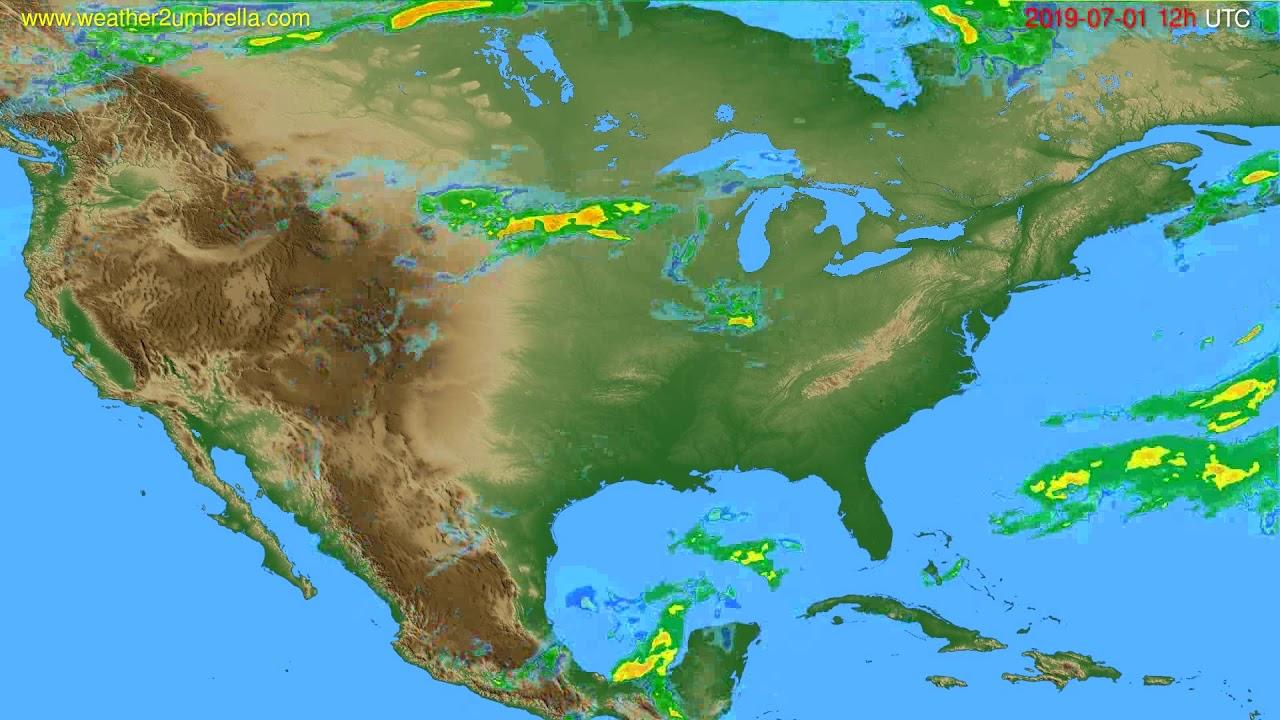 Radar forecast USA & Canada // modelrun: 00h UTC 2019-07-01