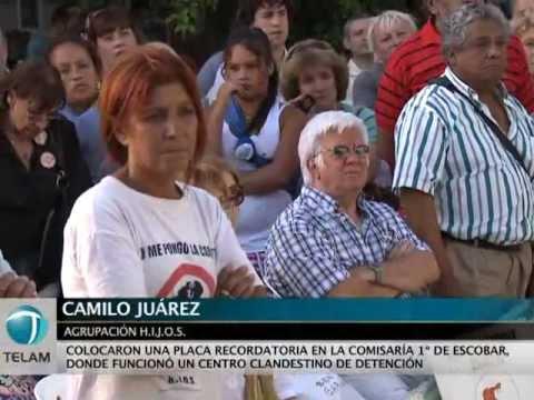 H.I.J.O.S. colocó una placa recordatoria en una comisaría de Escobar