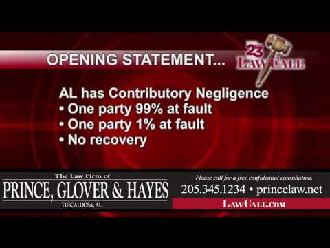 9/29/2016 - Contributory Negligence - Tuscaloosa, AL - LawCall - Legal Videos