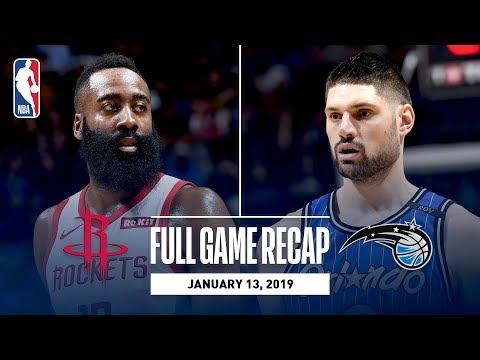 Video: Full Game Recap: Rockets vs Magic | James Harden Records His 16th Consecutive 30+ Point Game