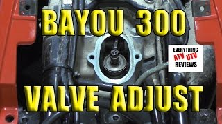 6. KLF 300 2x4 or 4x4: Kawasaki Bayou Valve Adjustment .10 - .15mm