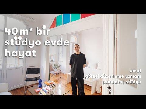 İstanbul'da Parizyen Bir Ev: 40 m²'lik Stüdyo Daire