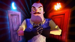 WHAT SECRETS ARE BEHIND THE SUN AND MOON DOORS!?!! (Hello Neighbor Secrets / Hello Neighbor Alpha 4)