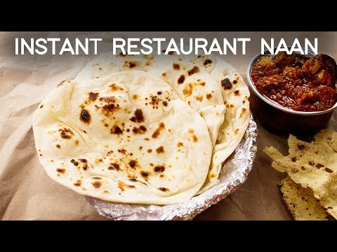 Naan Recipe 😋 - Tawa Soft Restaurant Style Without Yeast, Tandoor, Eggs - CookingShooking