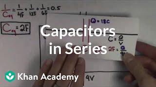 Capacitors in series | Circuits | Physics | Khan Academy