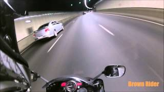 6. 2009 Yamaha YZF R6 Test Ride / Tunnel Revving / 0-100 Acceleration / Brown Rider