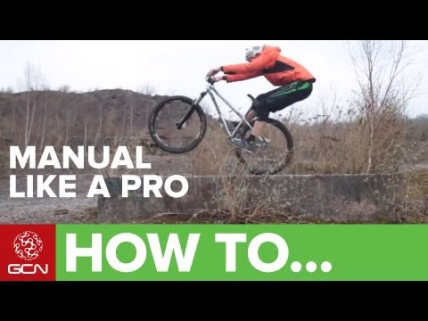 manual - Manualling a mountain bike is a really useful skill to get you out of trouble. Follow GCN on YouTube here: http://gcn.eu/gcnsubs Professional mountain biker ...