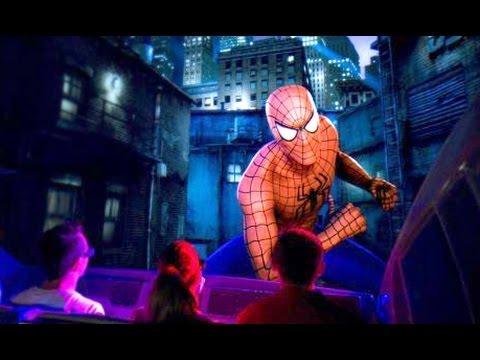 POV Amazing Adventures of Spider-Man ride Universal Islands of Adventure (видео)