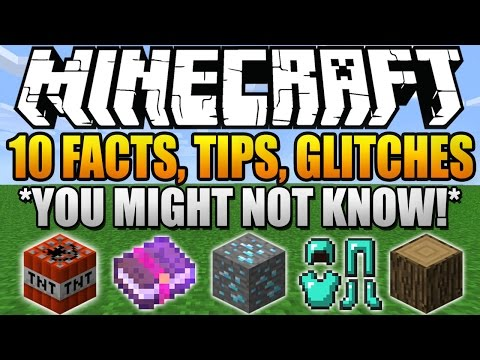 ★ 10 Facts, Tips, Glitches, Things You Didn't Know About Minecraft