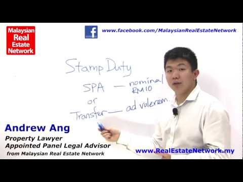 Property Investment Malaysia Legal Tips No 8 - What Are The Different Types of Stamp Duty in SPA?