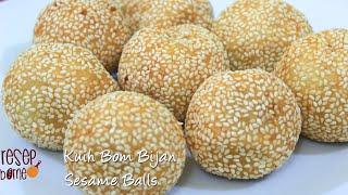 Resepi Kuih Bom Bijan (Onde Onde) | Sesame Seed Balls