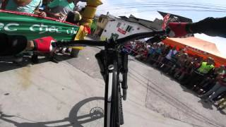 Marcelo Gutierrez's winning run at Manizales Urban Downhill Race