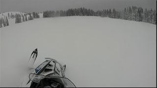 9. Carving on the 2015 Polaris 600 Voyageur 144 Snowmobile at Mushy Park