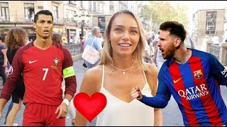 Video Date MESSI or RONALDO? Spanish girls respond.西班牙女生要美斯還是朗拿度? MP3, 3GP, MP4, WEBM, AVI, FLV Desember 2018