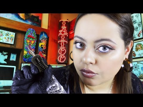 ASMR| Tingly Tattoo Artist Roleplay w/ Layered Sounds