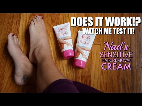 Super Easy Leg Hair Removal. Live Video Demo by ItsJustKelli using Nad's Sensitive Hair Removal Cream