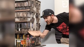 """When Joshua Smith isn't walking the streets with the rest of us, he's creating his own worlds. Working at 1:20 scale, Joshua uses MDF, cardboard, and plastic to create the base of his pieces and adds chalk pastels for the exteriors. A four-story miniature building can take him up to three months to complete (even working 8-16 hours a day). """"I want viewers to be fooled, if I take a photo of the completed work in sunlight, to think it is the real thing,"""" Smith confessed.Follow Joshua Smith on Instagram: https://www.instagram.com/joshua_smith_street_artist/--------------------------------------Leave a comment below. We would like to hear what you thinkLove art and design videos? Subscribe to our channel:https://www.youtube.com/channel/UCnciA_RZVjq9DMvx1KB625QFor more art and design news, like us on Facebook:https://www.facebook.com/BoredPandaArtVisit our website: http://www.boredpanda.com/"""
