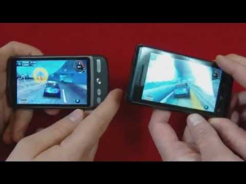 HTC Desire vs Motorola Milestone - gry 3D