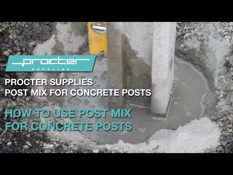How to use post mix for concrete posts