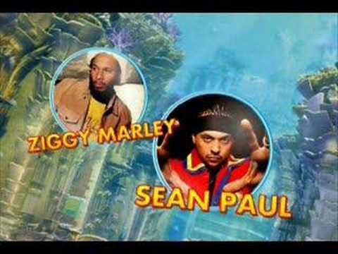 Tekst piosenki Sean Paul - Three Little Birds  ft. Ziggy Marley po polsku