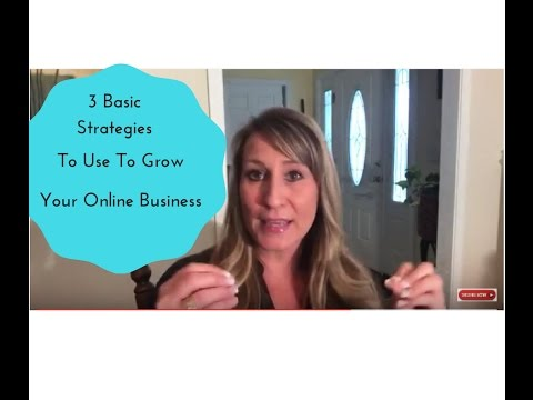 3 Basic Strategies To Use Daily To Grow Your Online Business