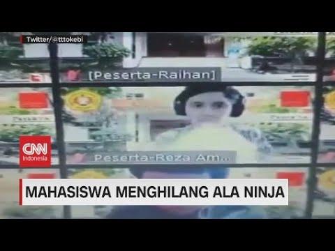 Kocak, Aksi Mahasiswa Menghilang Ala Ninja