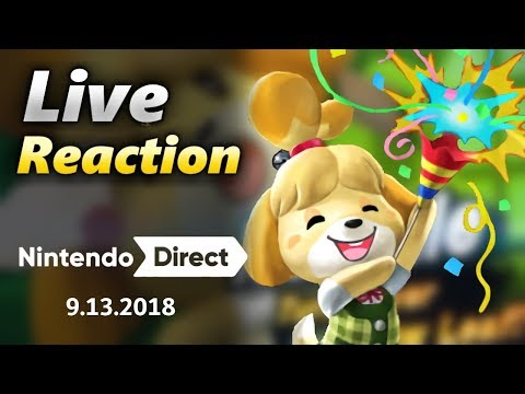 LIVE Reaction to Isabelle & Animal Crossing Switch - Nintendo Direct 9.13.2018 (видео)