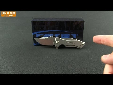 "Zero Tolerance 0900BLU Flipper Knife Blue Titanium (2.75"" Stonewash) ZT"