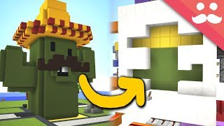 Making a BUMBO CACTONI Door in Minecraft! •