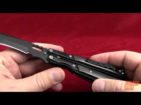 "Black Fang Butterfly Knife Tactical Tanto (3.5"" Black Plain)"