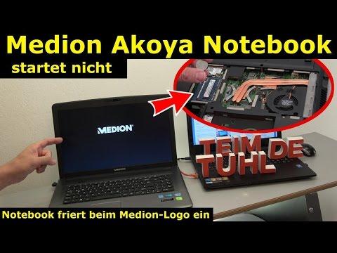 Medion Akoya Notebook startet nicht mehr - nur Medion Logo wird angezeigt - Windows 10 - [4K]