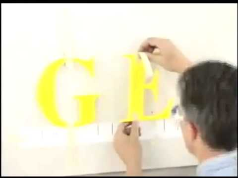 Installing Pad Mounted 3D Sign Letters-2:55min