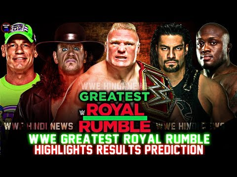 WWE Greatest Royal Rumble 2018 Highlights Result Prediction || 50 Men Royal Rumble Match Winner