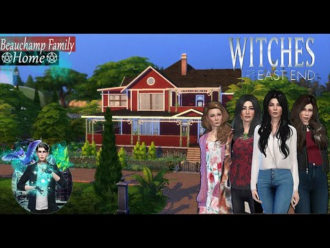 BEAUCHAMP FAMILY HOME part 1 (Witches of East End )  // The Sims 4 (Speed Build) + CC