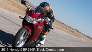 5. 2011 Honda CBR250R Track Comparo - MotoUSA