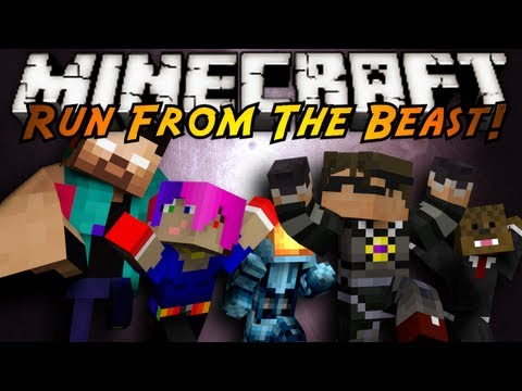 Minecraft - RUN!!! RUUUN!! THE BEAST IS CHASING YOU DOWN! GET TO THE END, GRAB THE ARMOR AND SLAY HIM BEFORE HE SLAYS YOU! Friends Channels and Creators! http://www.yout...