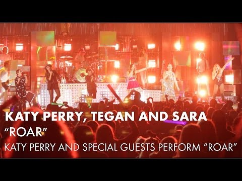 Katy Perry Sings Roar With Tegan and Sara & Special Guests At The Hollywood Bowl [HD]