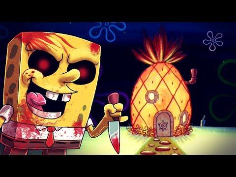 Minecraft   SPONGEBOB.EXE IS IS A PSYCHO - Maze Challenge! (Spongebob vs Bikini Bottom)